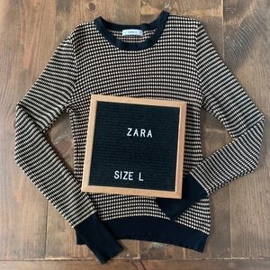 Zara Knit Pattern Sweater